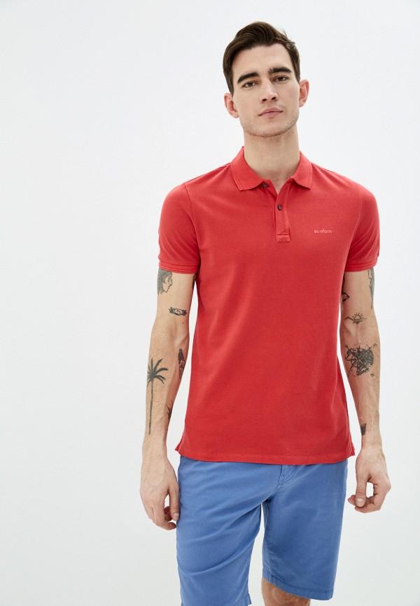 мужское поло с коротким рукавом strellson, красное