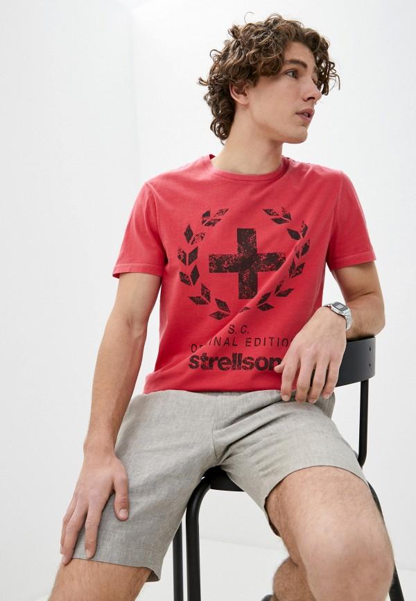 мужская футболка с коротким рукавом strellson, красная