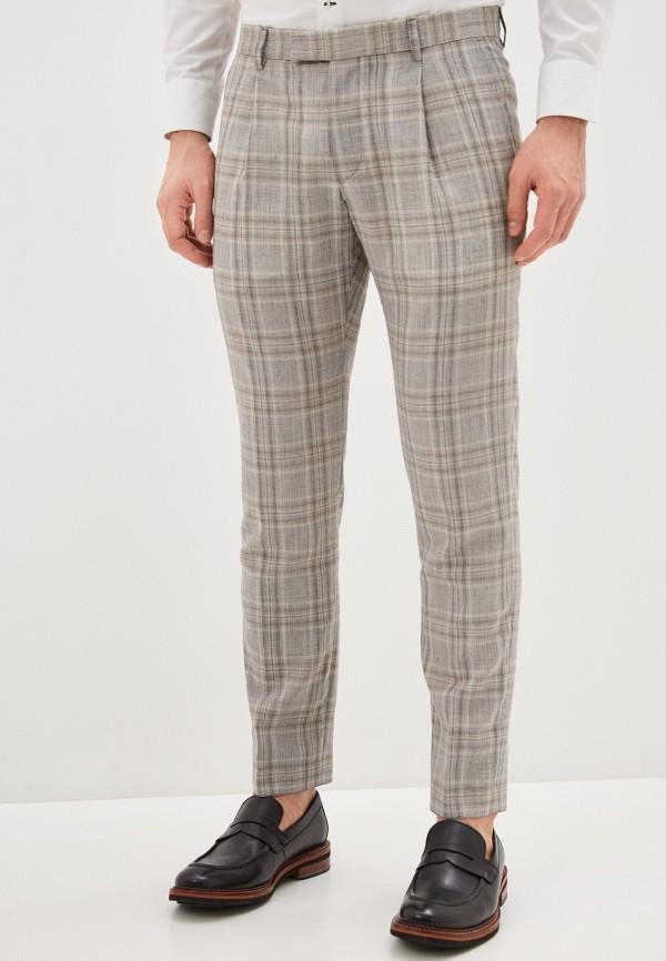 мужские зауженные брюки strellson, бежевые