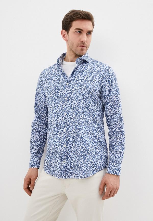 мужская рубашка с длинным рукавом strellson, синяя