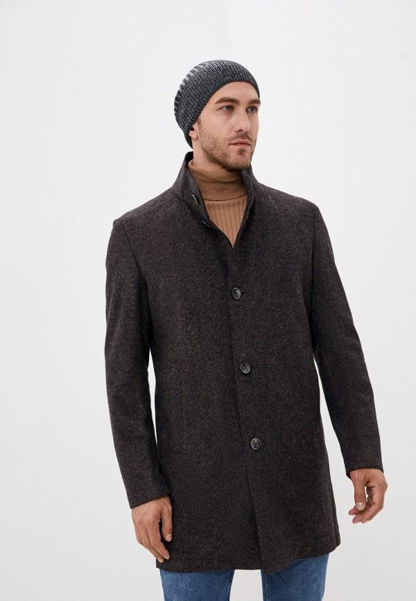 мужское пальто strellson, коричневое