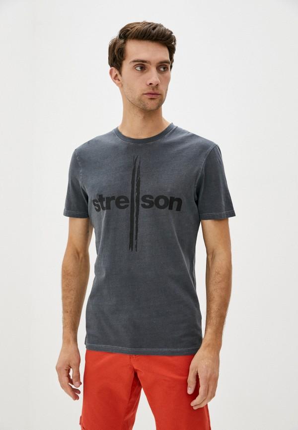 мужская футболка с коротким рукавом strellson, черная