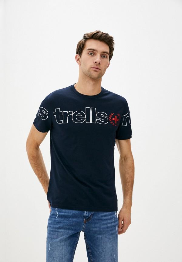 мужская футболка с коротким рукавом strellson, синяя