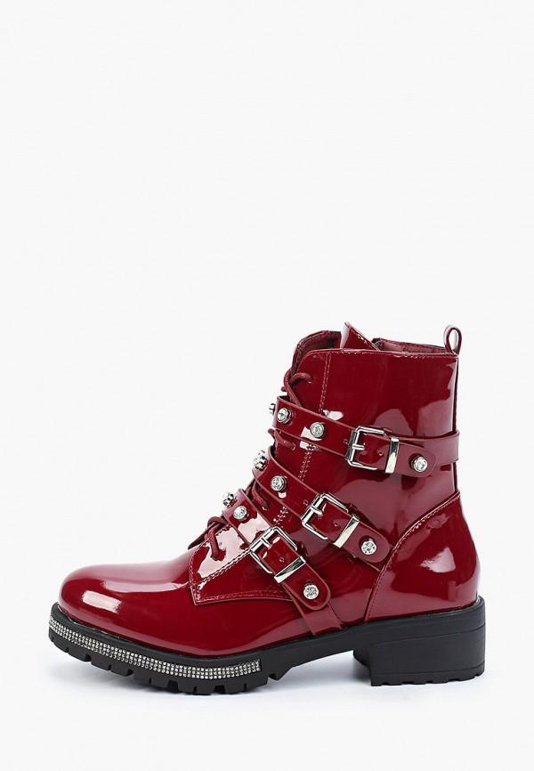 женские ботинки stephan, красные