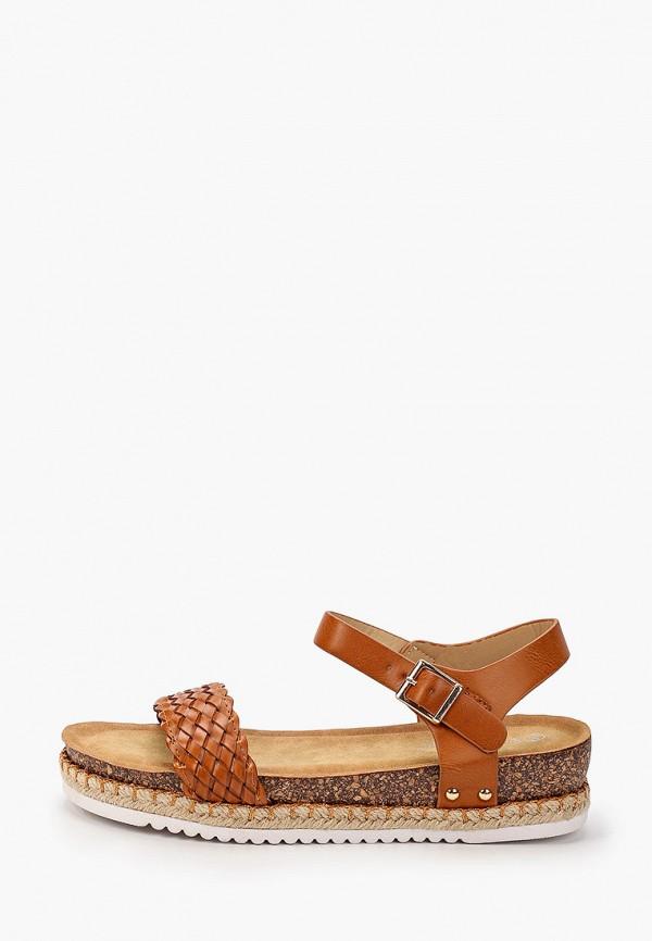 женские сандалии stephan, коричневые