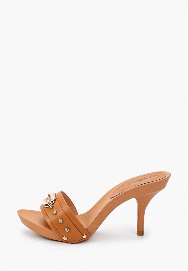 женское сабо stephan, коричневое