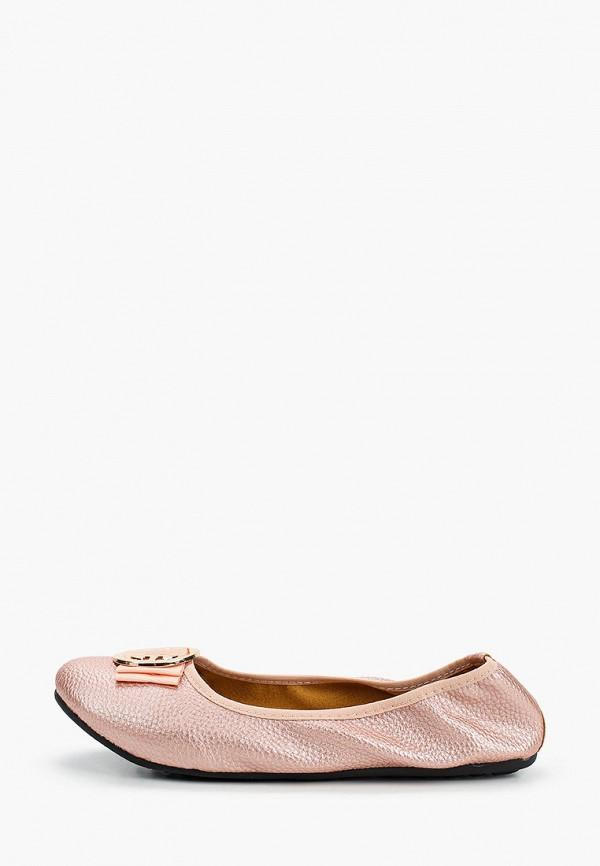 женские балетки stephan, розовые