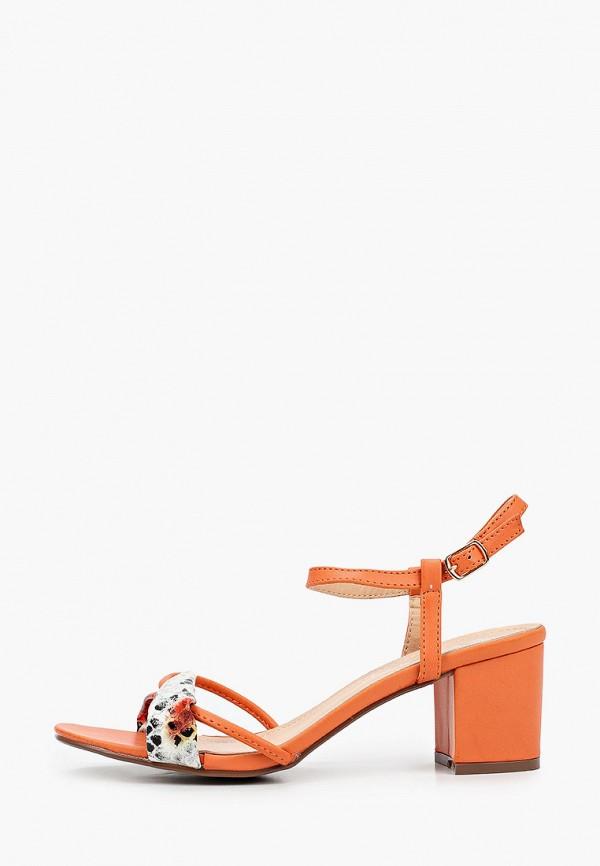 женские босоножки stephan, оранжевые