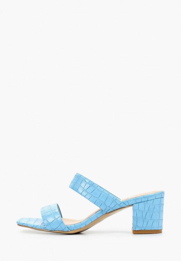 женское сабо stephan, голубое