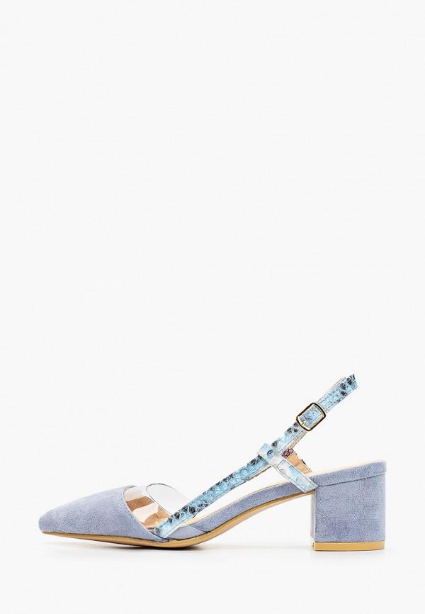 женские туфли stephan, голубые