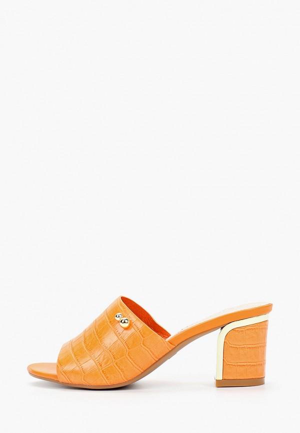женское сабо stephan, оранжевое