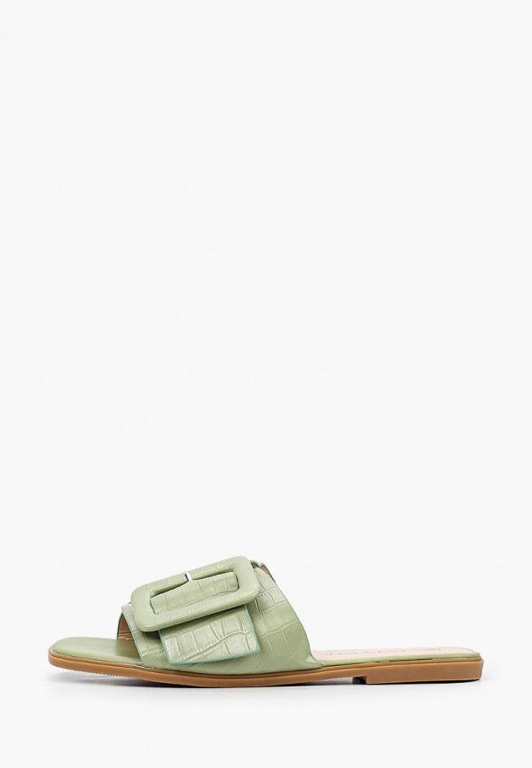 женское сабо stephan, зеленое