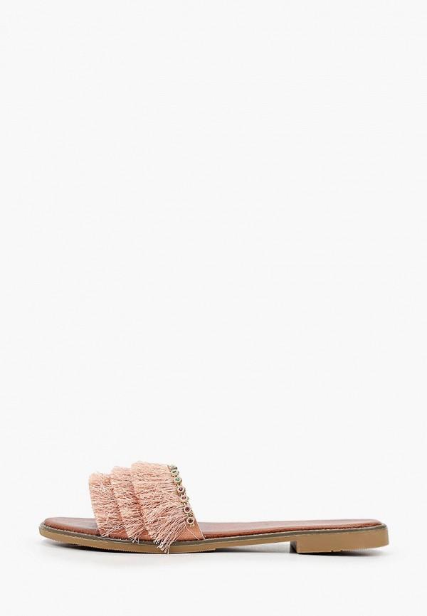 женское сабо stephan, розовое