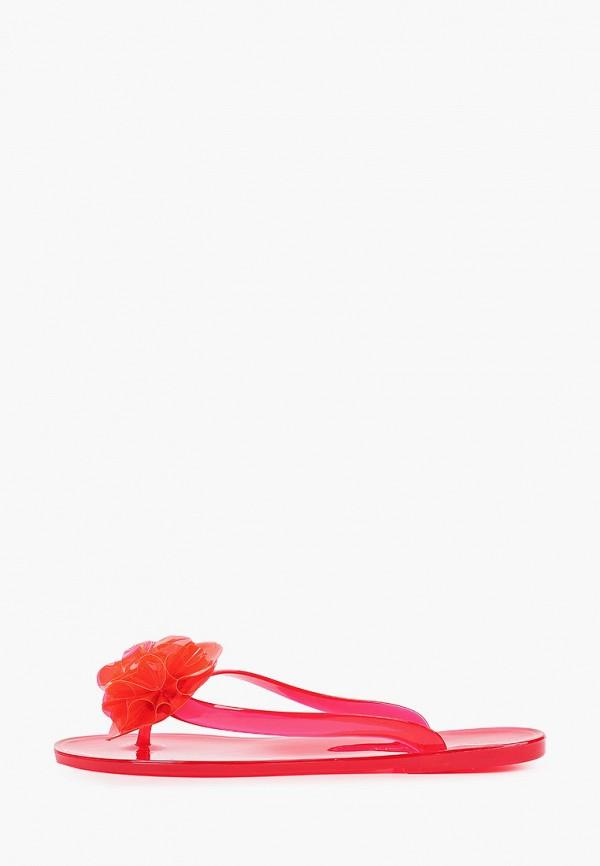 женские сланцы stephan, красные