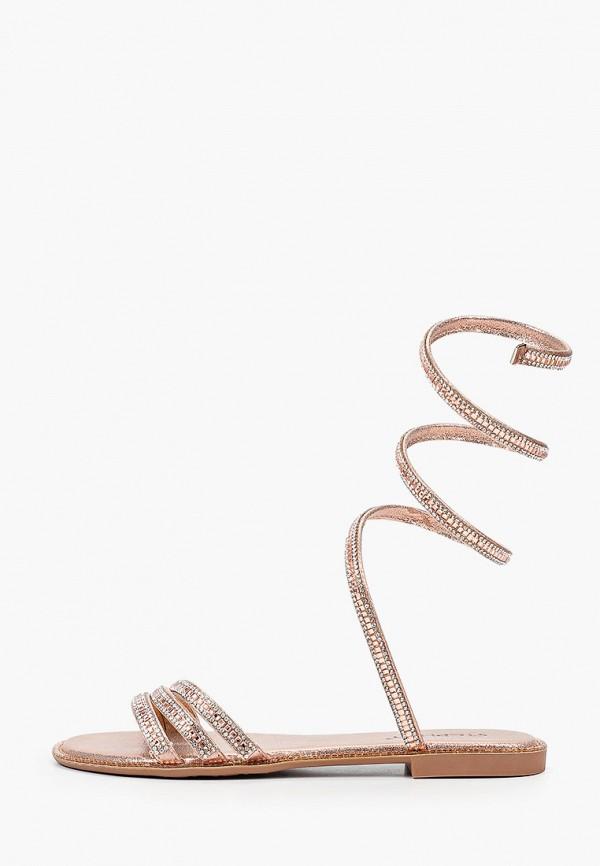 женские сандалии stephan, золотые