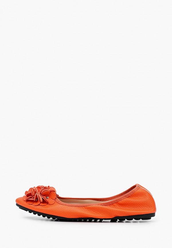 женские балетки stephan, оранжевые