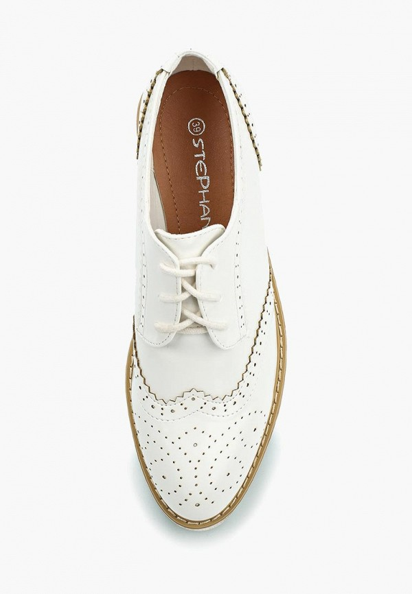 Фото 4 - женские ботинки и полуботинки Stephan белого цвета