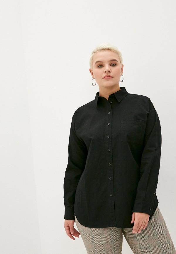 женская рубашка с длинным рукавом studio untold, черная