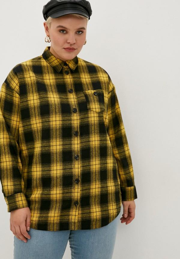 женская рубашка с длинным рукавом studio untold, желтая
