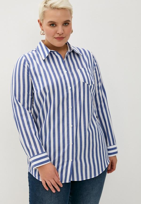 женская рубашка с длинным рукавом studio untold, синяя