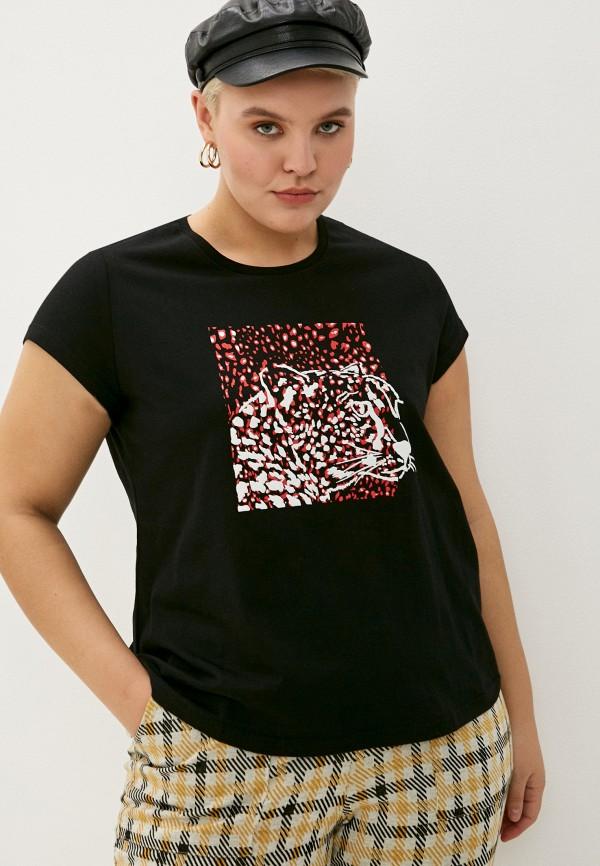 женская футболка studio untold, черная