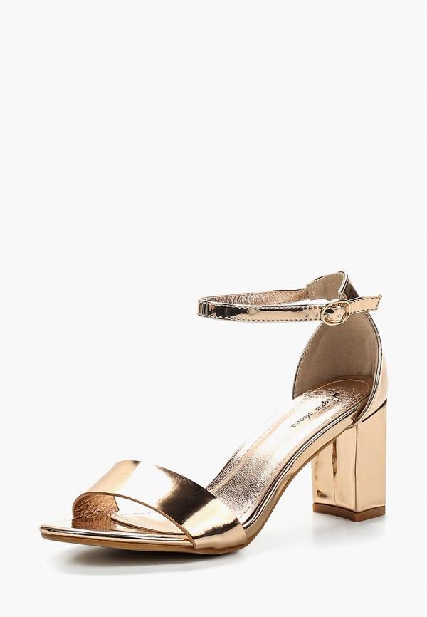 Купить женские босоножки Style Shoes золотого цвета