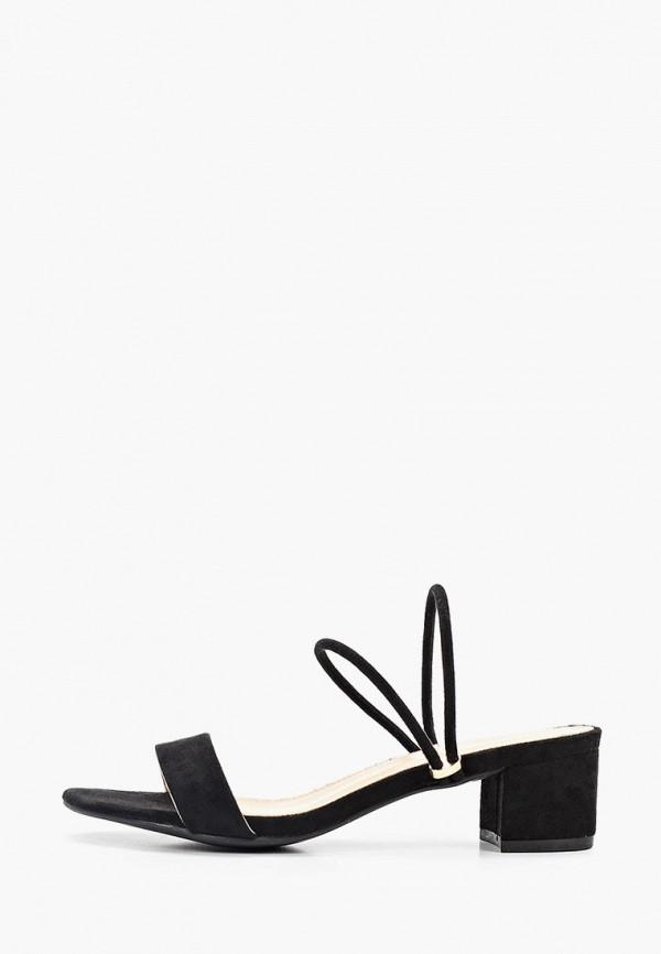женское сабо style shoes, черное