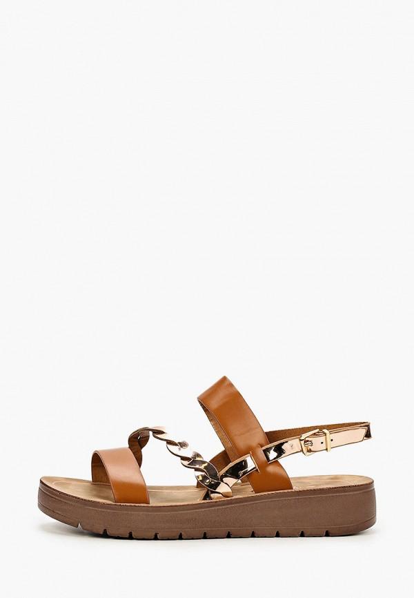 женские сандалии style shoes, коричневые