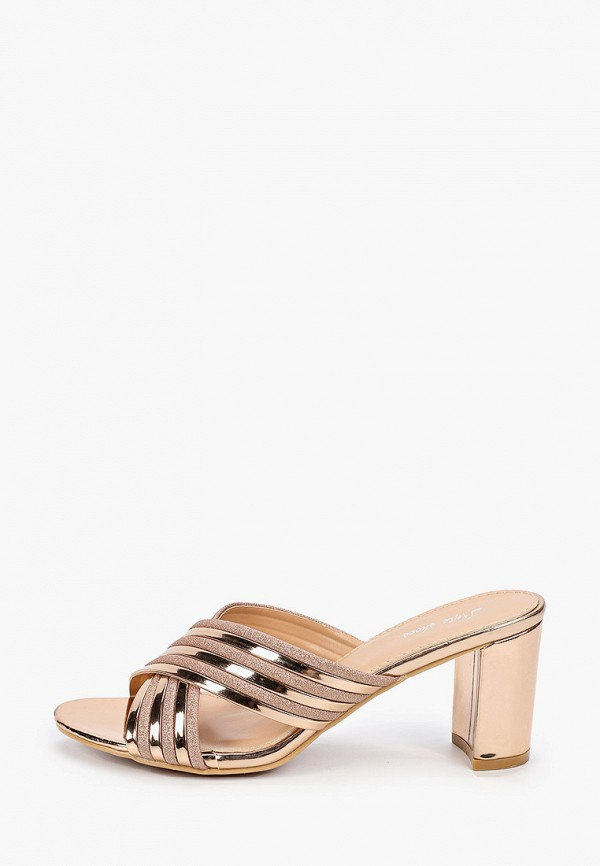 женское сабо style shoes, золотое