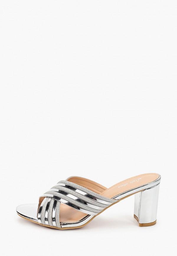 женское сабо style shoes, серебряное