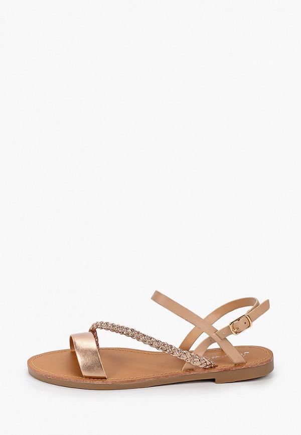 женские сандалии style shoes, бежевые