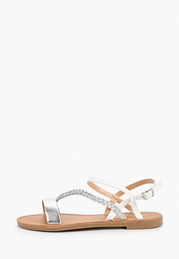 женские сандалии style shoes, серебряные