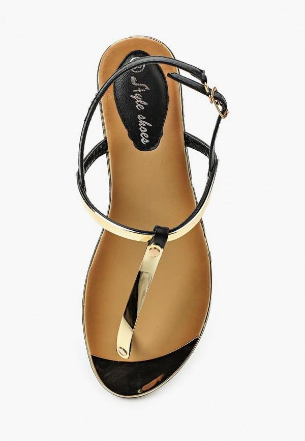 Фото 14 - женские сандали Style Shoes черного цвета