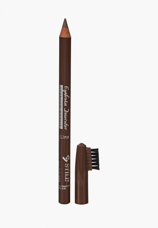 карандаш для бровей still, коричневый