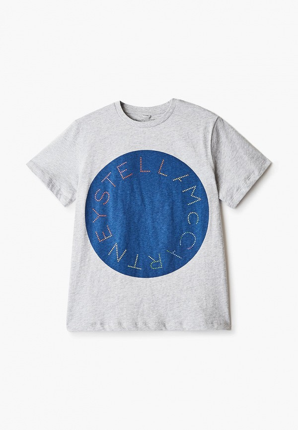 футболка с коротким рукавом stella mccartney для мальчика, серая