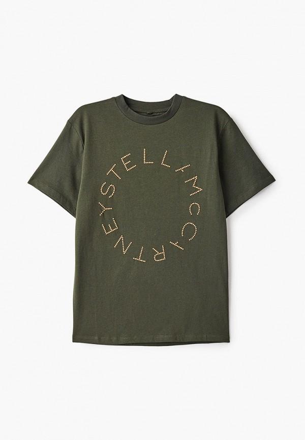 футболка с коротким рукавом stella mccartney для мальчика, хаки