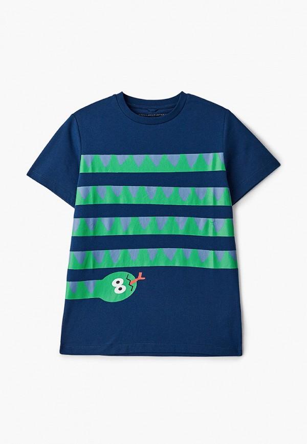 футболка с коротким рукавом stella mccartney для мальчика, синяя