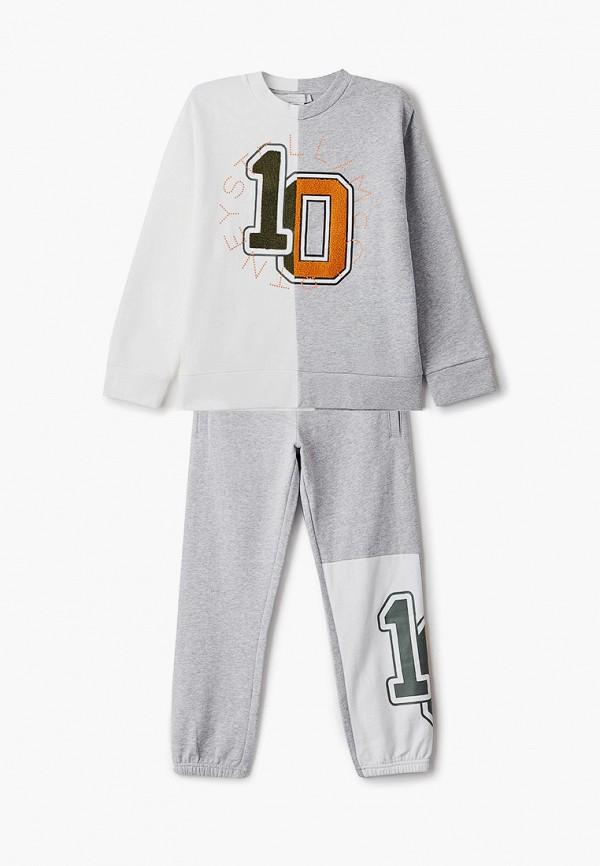 спортивный костюм stella mccartney для мальчика, серый