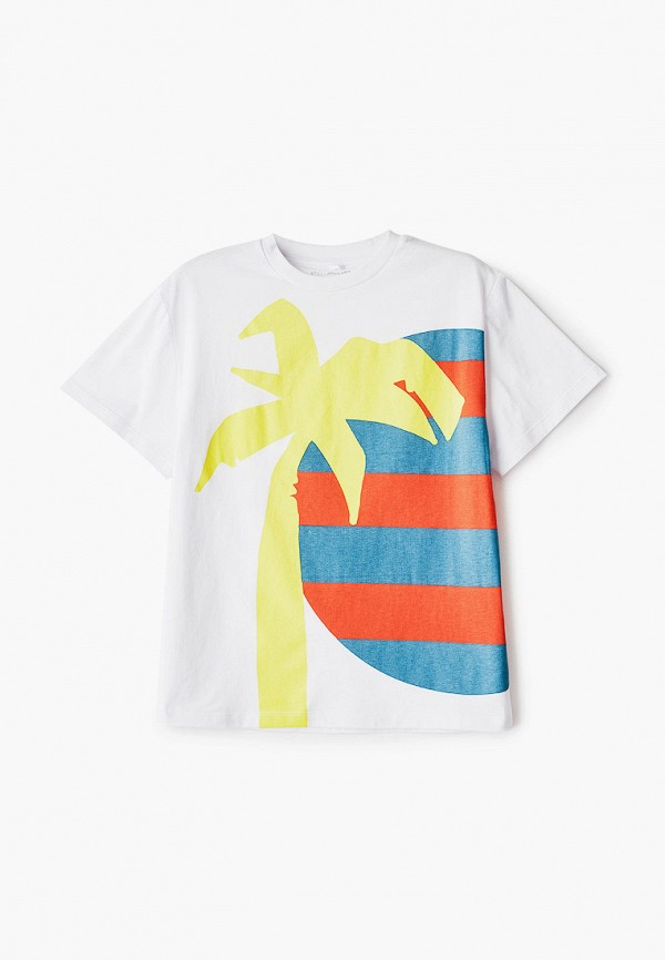 футболка с коротким рукавом stella mccartney для мальчика, белая