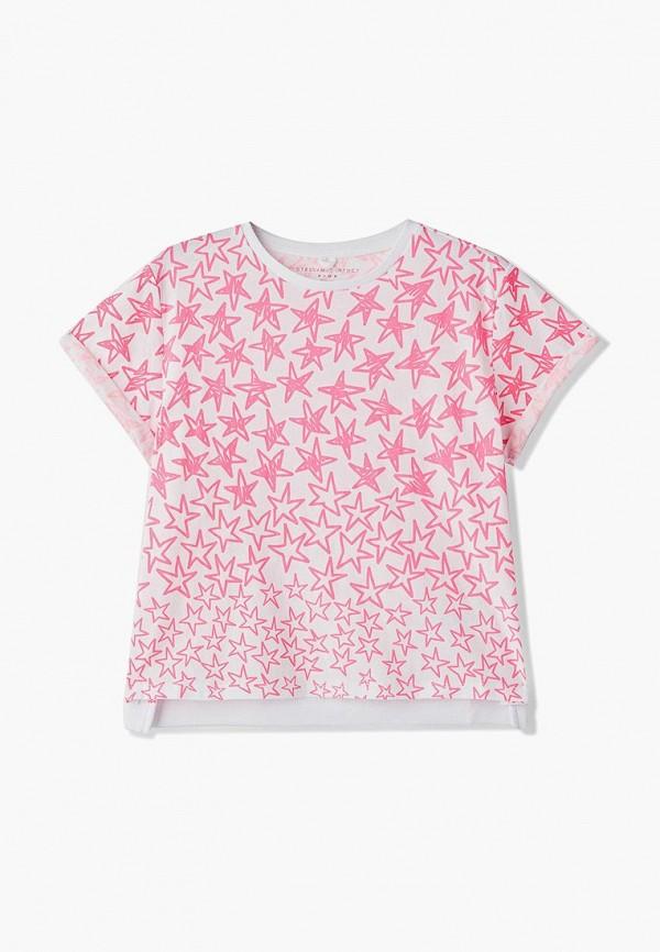 футболка stella mccartney для девочки, белая
