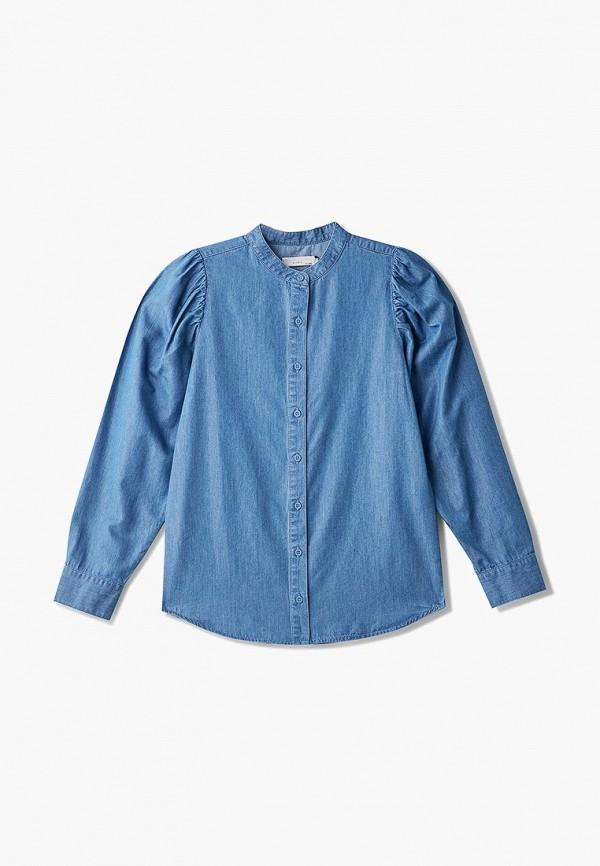 джинсовые рубашка stella mccartney для девочки, синяя