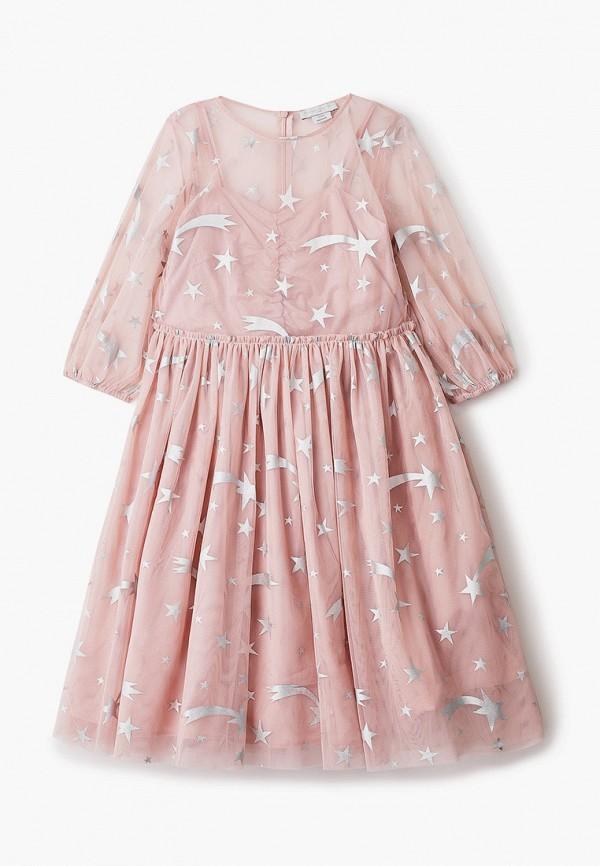 платье stella mccartney для девочки, розовое