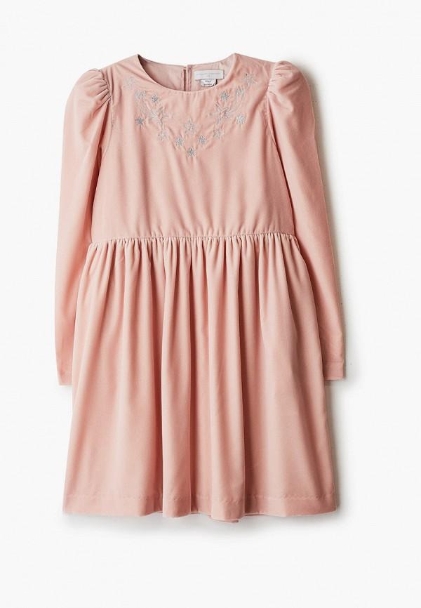 повседневные платье stella mccartney для девочки, серебряное