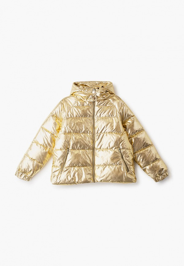 утепленные куртка stella mccartney для девочки, золотая