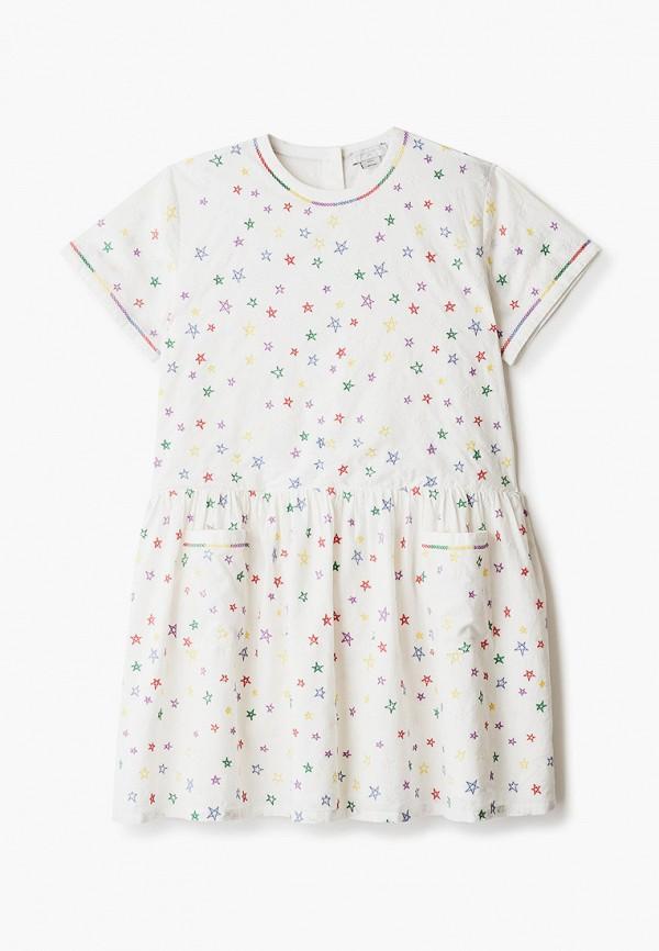 повседневные платье stella mccartney для девочки, бежевое