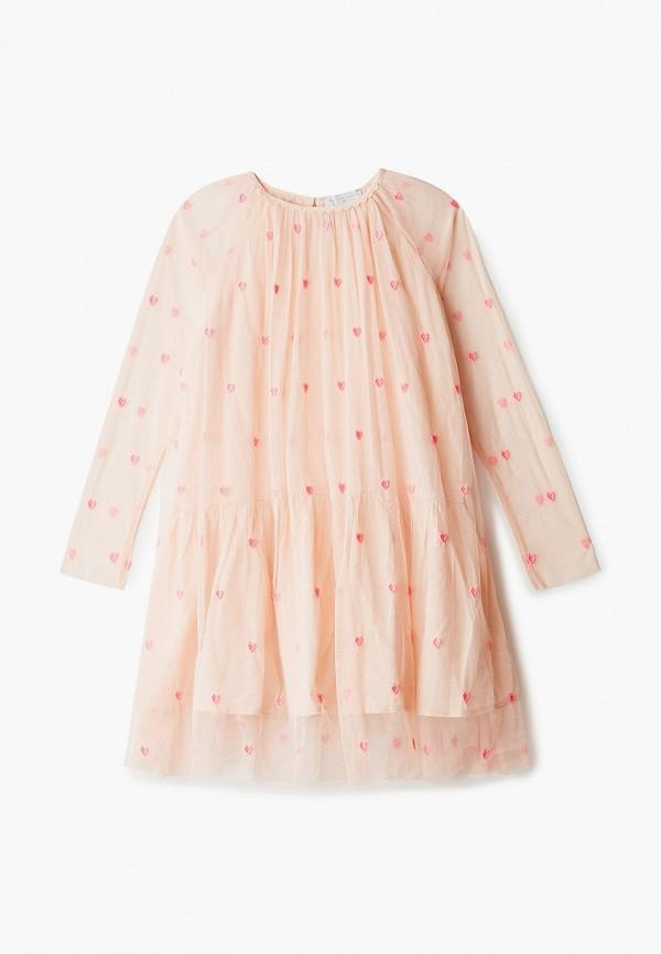 нарядные платье stella mccartney для девочки, бежевое
