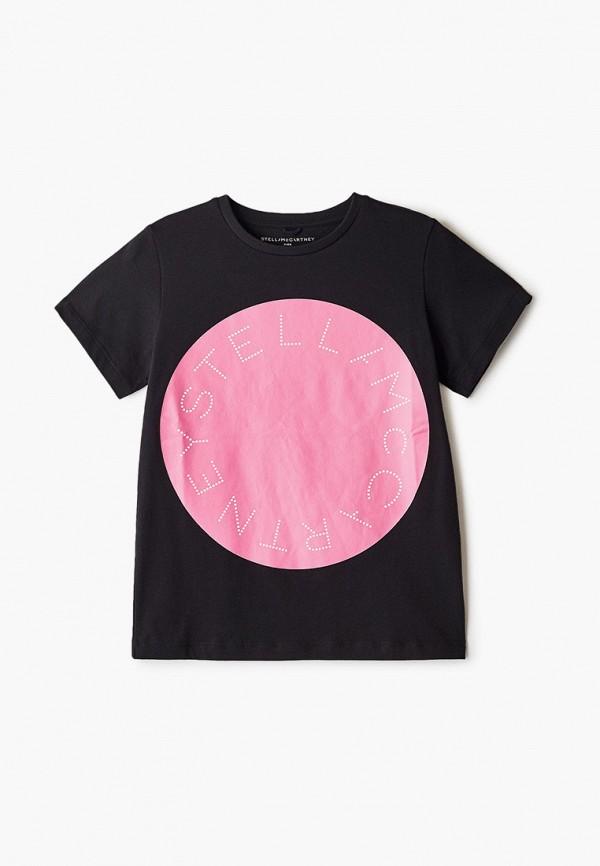 футболка с коротким рукавом stella mccartney для девочки, черная