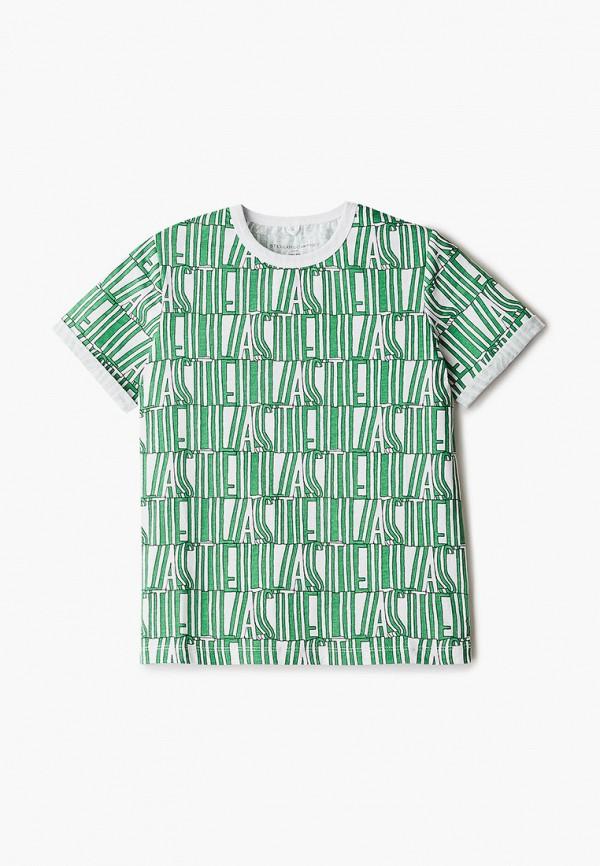 футболка с коротким рукавом stella mccartney для девочки, зеленая