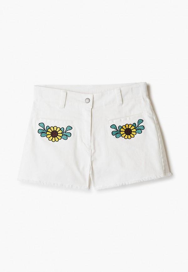 джинсовые шорты stella mccartney для девочки, белые