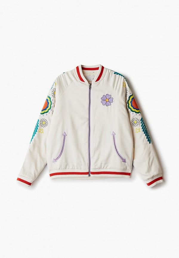 куртка stella mccartney для девочки, белая